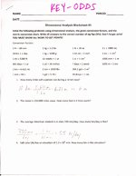 Dimensional Analysis Problems Worksheet New Chemistry Unit 1 Worksheet 6 Dimensional Analysis