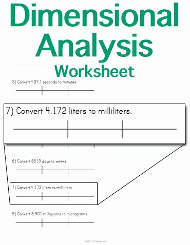 Dimensional Analysis Problems Worksheet New Customizable and Printable Dimensional Analysis Worksheet