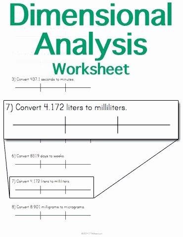 Dimensional Analysis Problems Worksheet New Customizable and Printable Dimensional Analysis Worksheet
