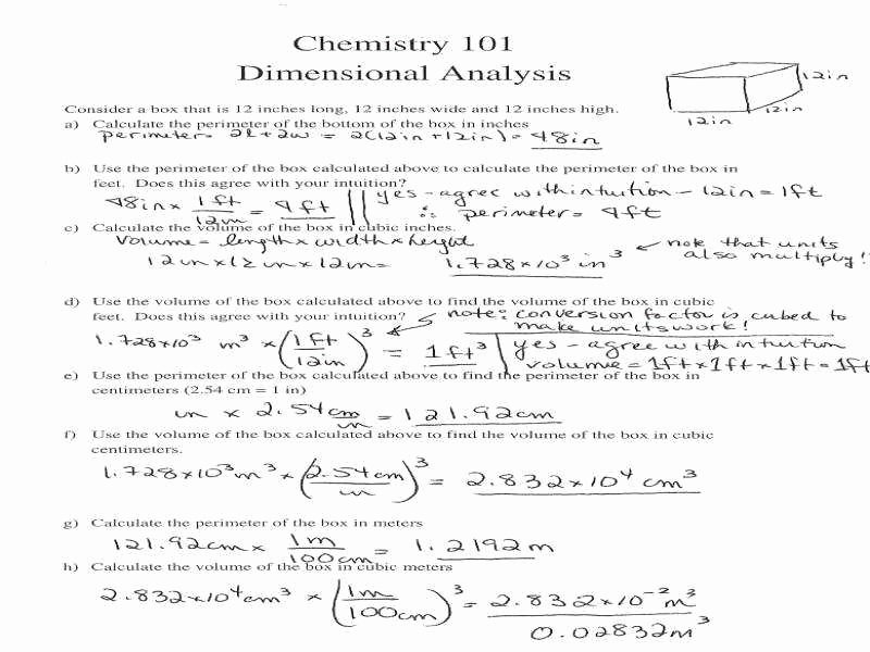 Dimensional Analysis Worksheet and Answers Inspirational Dimensional Analysis Worksheet Answers