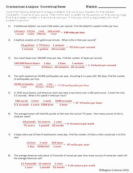Dimensional Analysis Worksheet and Answers Inspirational Dimensional Analysis Worksheet — Canyon Physics