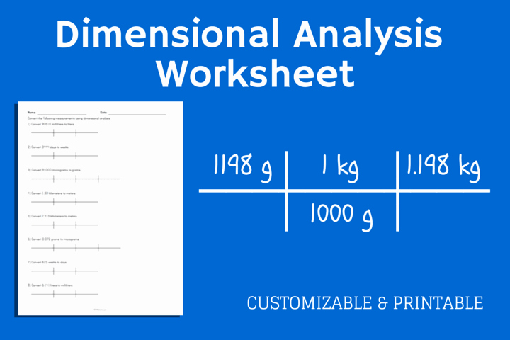 Dimensional Analysis Worksheet and Answers Lovely Dimensional Analysis Worksheet