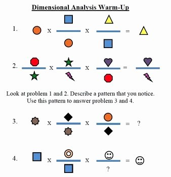 Dimensional Analysis Worksheet Answer Key Unique Dimensional Analysis Warm Up by Lizzy Single