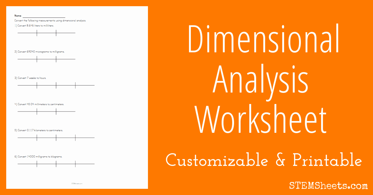 Dimensional Analysis Worksheet Answers Chemistry Beautiful Dimensional Analysis Worksheet
