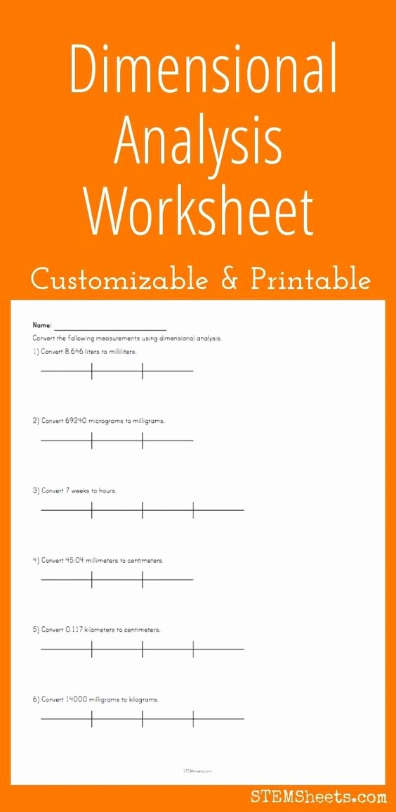 Dimensional Analysis Worksheet Answers Chemistry Inspirational Math and Worksheets On Pinterest