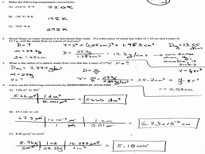 Dimensional Analysis Worksheet Answers Unique Dimensional Analysis Worksheet Answers