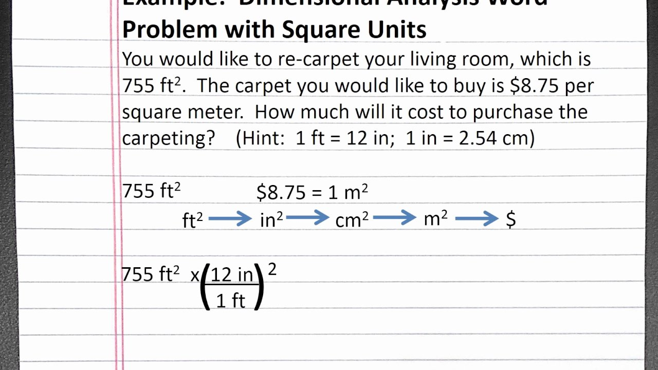 Dimensional Analysis Worksheet Chemistry Inspirational Chemistry 101 Dimensional Analysis Word Problem with