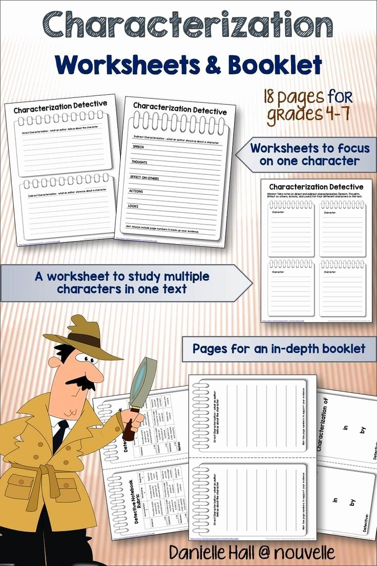 Direct and Indirect Characterization Worksheet Best Of 1000 Images About School On Pinterest