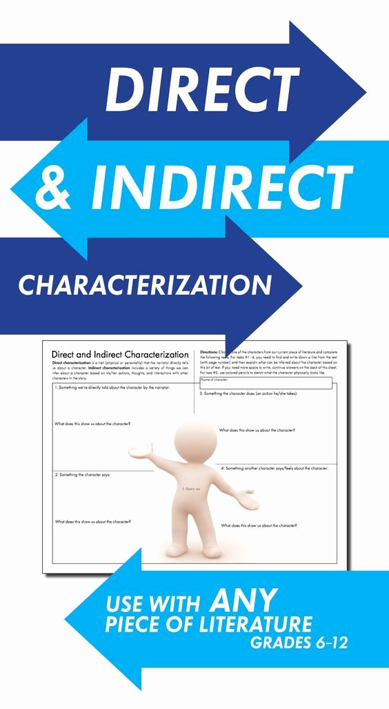 Direct and Indirect Characterization Worksheet Inspirational Direct & Indirect Characterization Fun Print and Teach