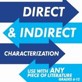 Direct and Indirect Characterization Worksheet Lovely 11th Grade Teaching Resources & Lesson Plans