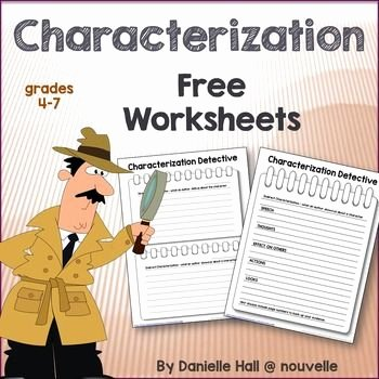 Direct and Indirect Characterization Worksheet Lovely Characterization Detective Worksheets Freebie