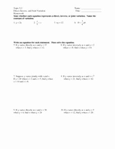 Direct and Inverse Variation Worksheet Best Of topic 9 2 Direct Inverse and Joint Variation Worksheet