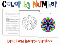 Direct and Inverse Variation Worksheet New Direct and Inverse Variation Color by Number by Charlotte