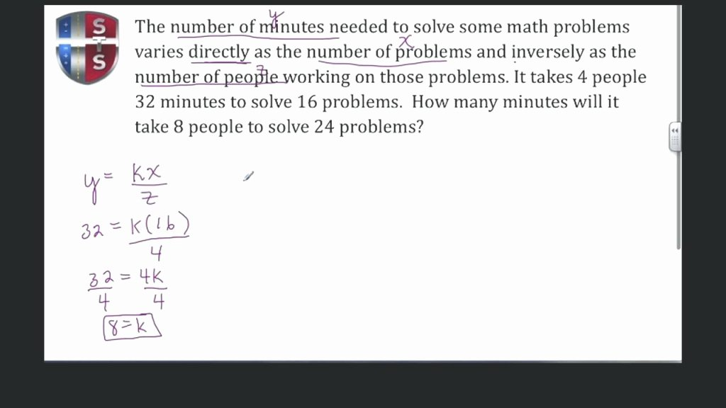 Direct Variation Word Problems Worksheet Luxury the Latest Template Of Direct Variation Function Math