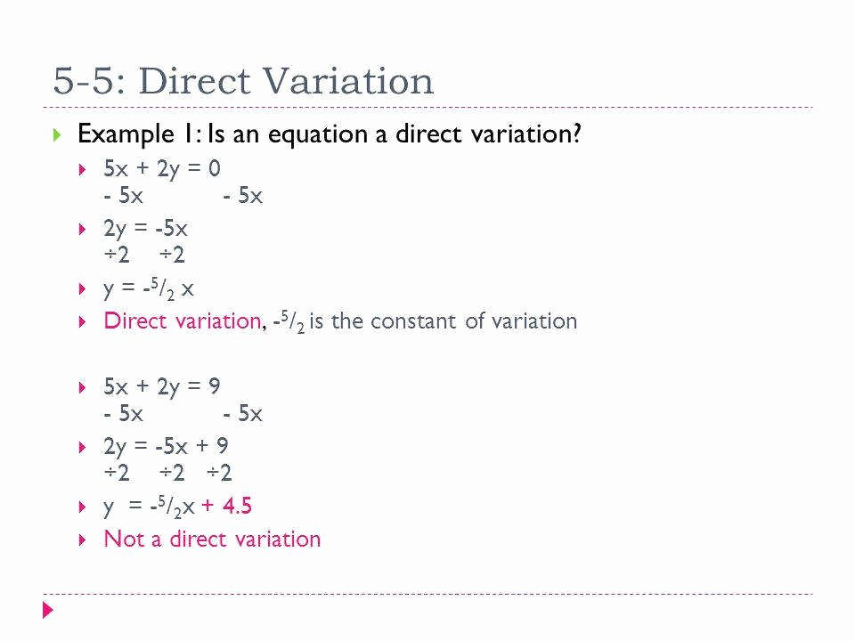 Direct Variation Worksheet Answers Best Of Direct Variation Worksheet