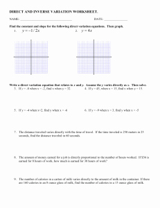 Direct Variation Worksheet with Answers Best Of 12 5 Through 12 7 Variation Worksheet W Answers
