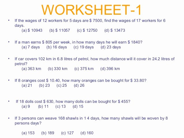 Direct Variation Worksheet with Answers New Direct and Inverse Variation