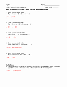 Direct Variation Worksheet with Answers Unique Direct and Inverse Variation Worksheet