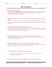 Dirt the Movie Worksheet Awesome Dirt Movie Worksheet Answer Key Pdf Name