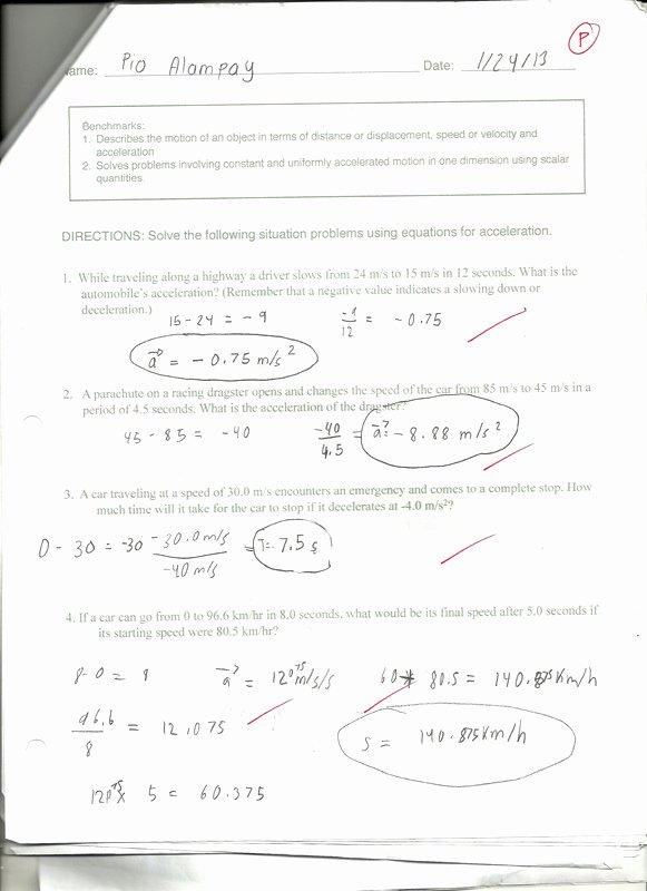 Displacement and Velocity Worksheet Beautiful Science Pio S Portfolio Term 3