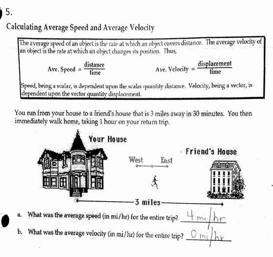 Displacement and Velocity Worksheet New Velocity and Acceleration Worksheet