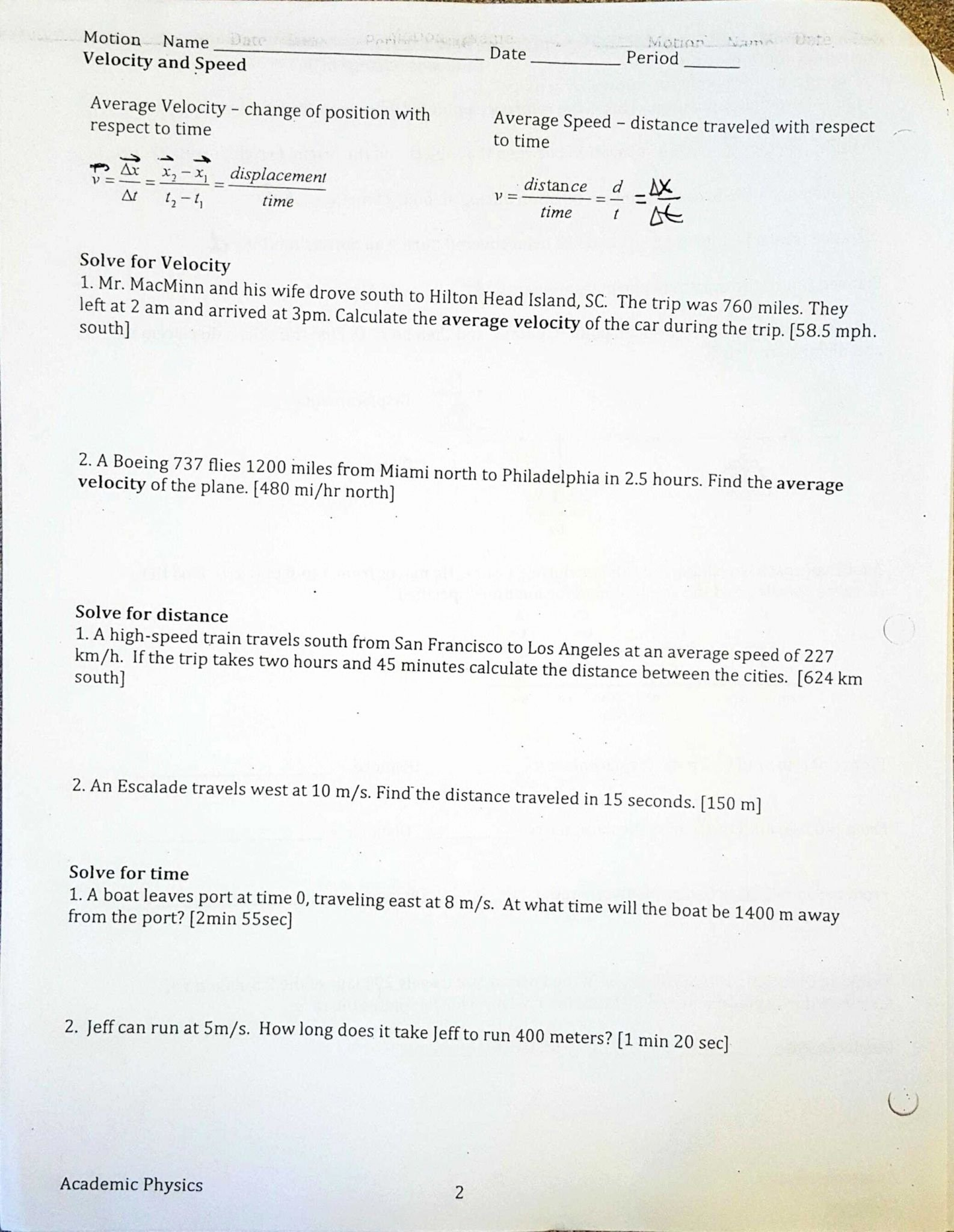 Displacement Velocity and Acceleration Worksheet Awesome Displacement Velocity and Acceleration Worksheet Answers