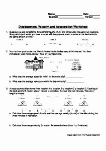 Displacement Velocity and Acceleration Worksheet Awesome Worksheet 7 Velocity and Acceleration Mafiadoc