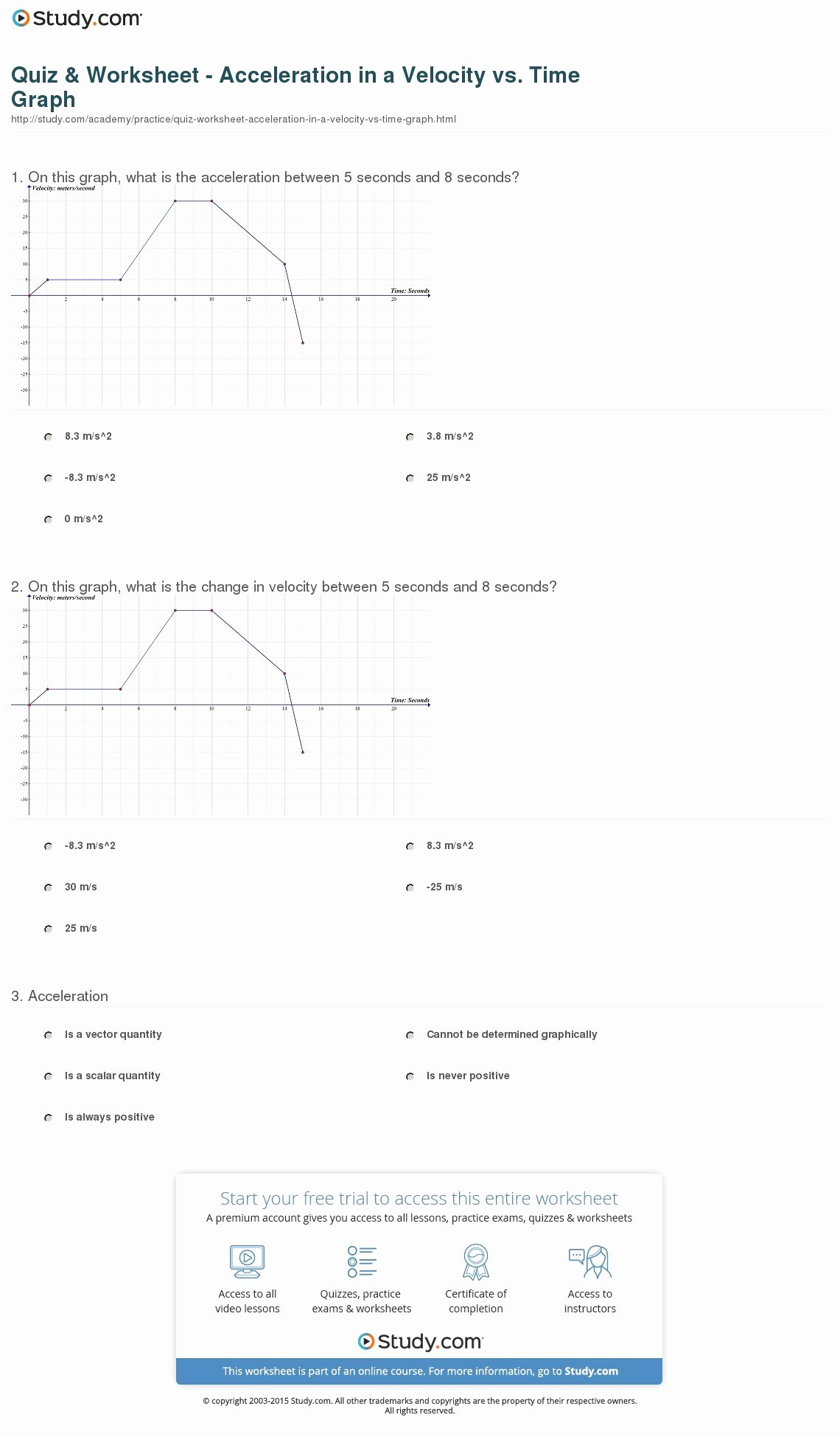 Displacement Velocity and Acceleration Worksheet Fresh Displacement Velocity and Acceleration Worksheet Answers