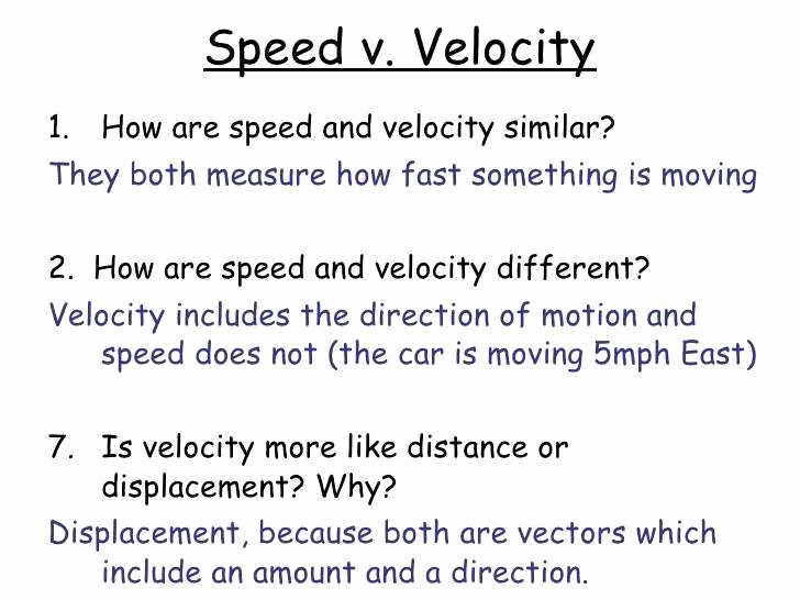 Displacement Velocity and Acceleration Worksheet Unique Average Speed and Average Velocity Worksheet Answers