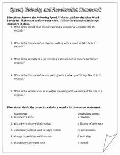 Displacement Velocity and Acceleration Worksheet Unique Displacement Velocity and Acceleration Worksheet Answers