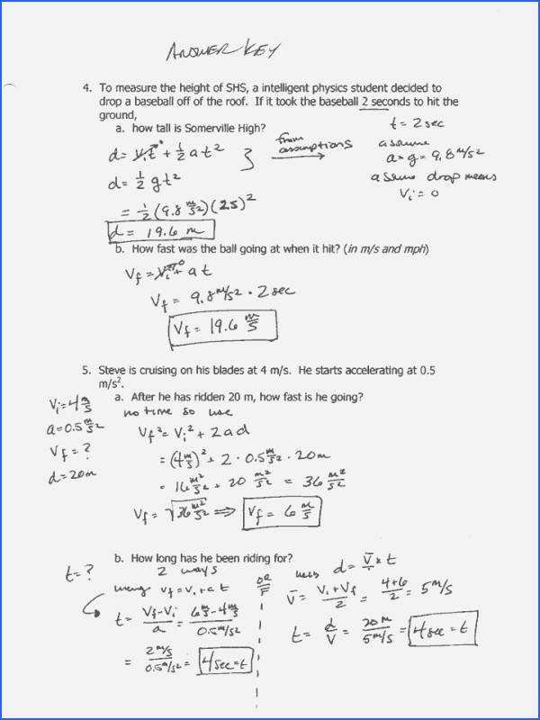 Distance and Displacement Worksheet Answers Beautiful Distance and Displacement Worksheet Answers
