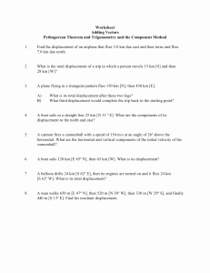 Distance and Displacement Worksheet Answers Unique Distance and Displacement Worksheet Mr Hubeny