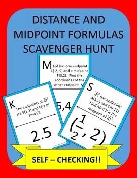 Distance and Midpoint formula Worksheet Fresh Distance and Midpoint formulas Scavenger Hunt Activity