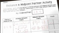 Distance and Midpoint formula Worksheet Inspirational Midpoint & Distance formula Activity
