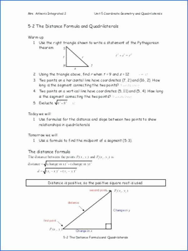 Distance and Midpoint Worksheet Best Of Midpoint and Distance formula Worksheet Zombie Answers