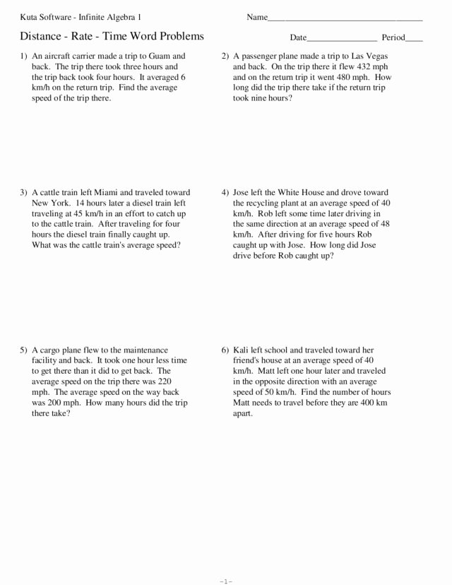 Distance formula Word Problems Worksheet Beautiful How to solve Distance Word Problems Personalzlatara Web