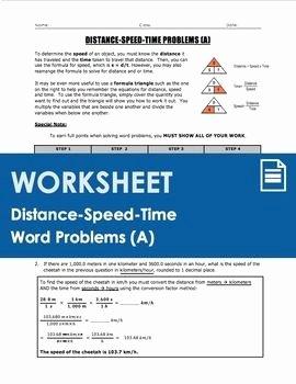 Distance formula Word Problems Worksheet Beautiful Worksheet Distance Speed Time Word Problems Part 1
