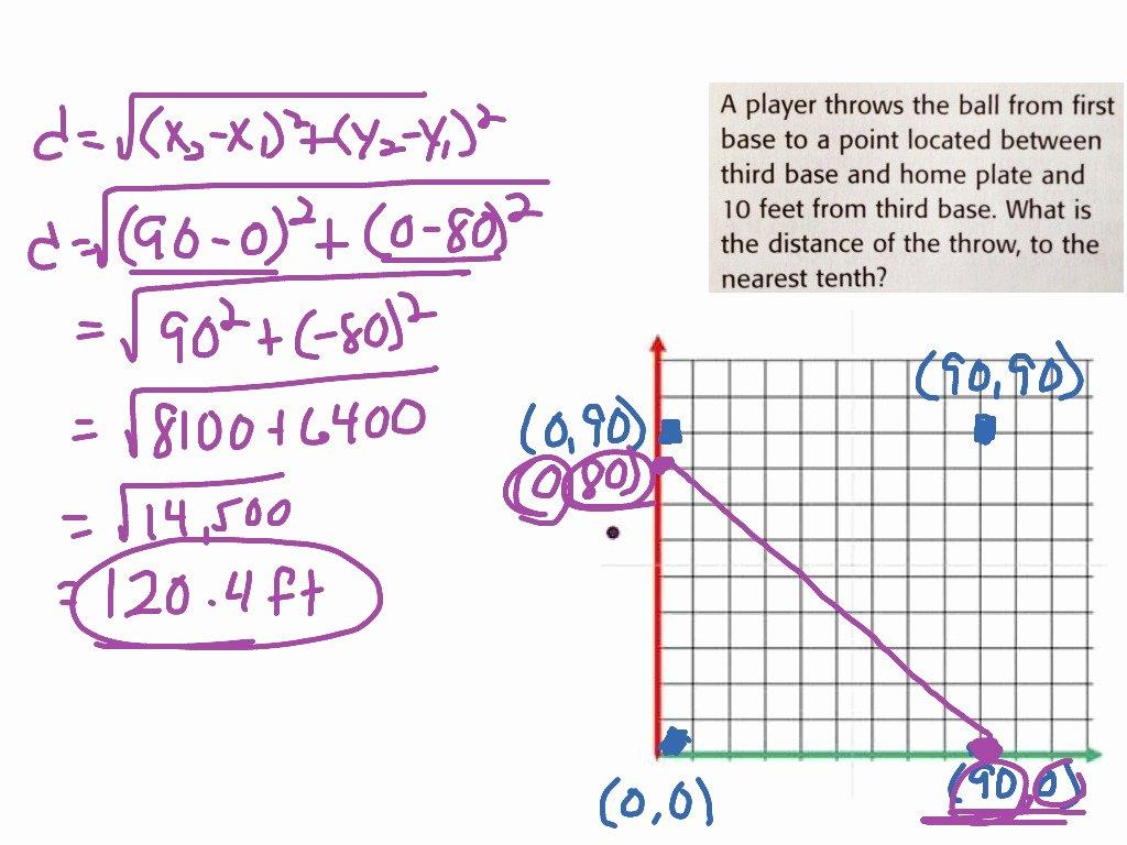 Distance formula Word Problems Worksheet Inspirational Distance formula Word Problem