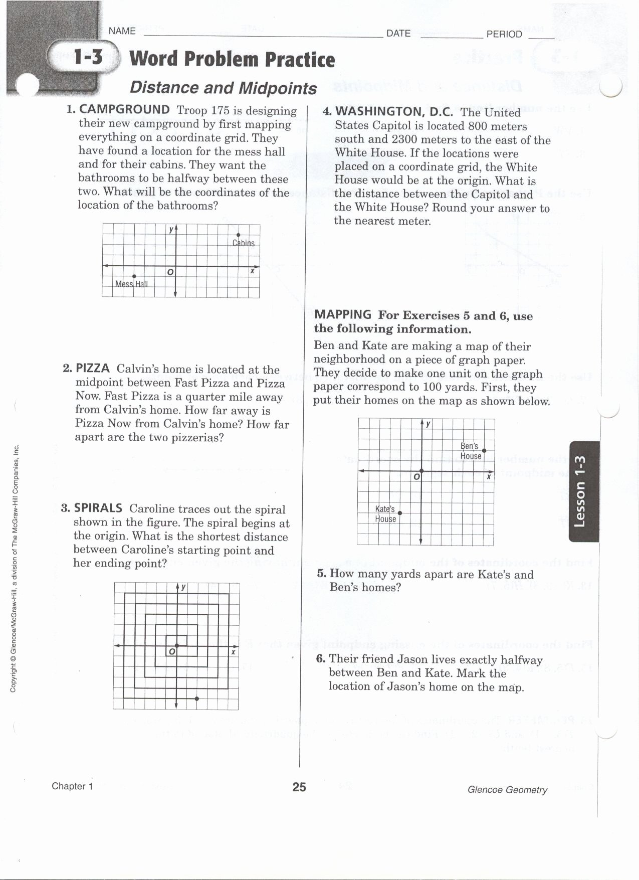 Distance formula Word Problems Worksheet Luxury Midpoint and Distance Worksheet
