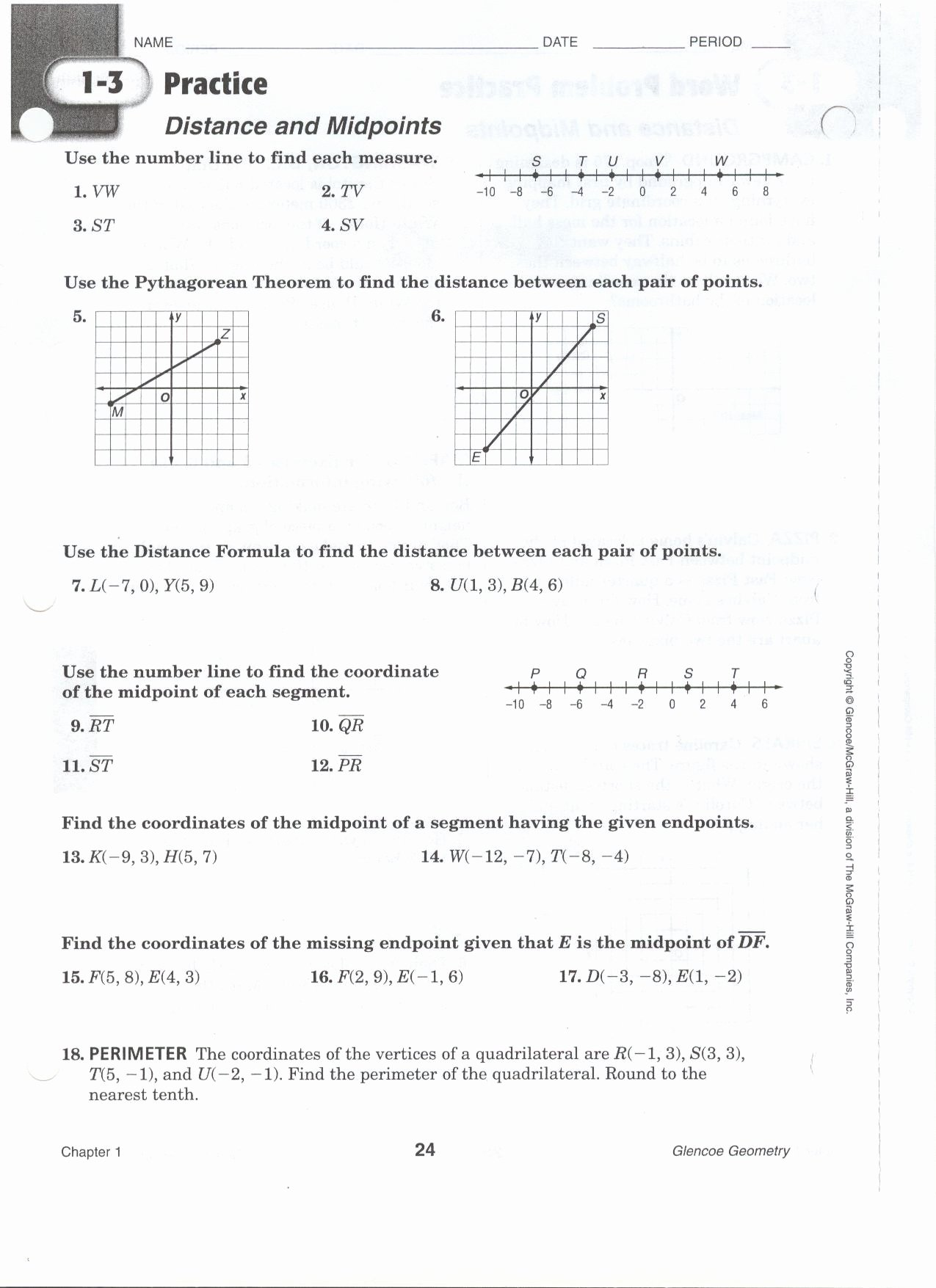Distance formula Word Problems Worksheet New Worksheet Midpoint and Distance Worksheet Grass Fedjp