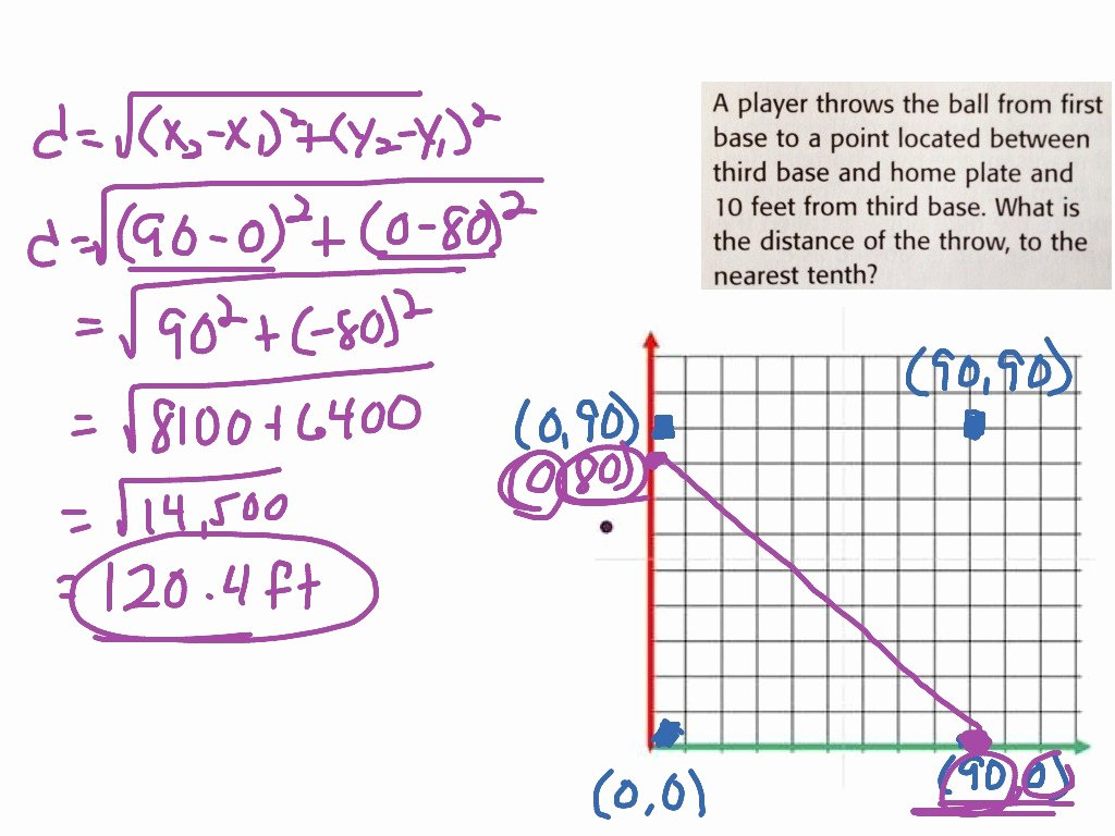 Distance formula Worksheet Geometry Elegant Distance formula Word Problem