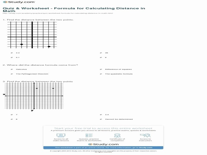 Distance formula Worksheet with Answers Best Of the Distance formula Worksheet Answers Free Printable