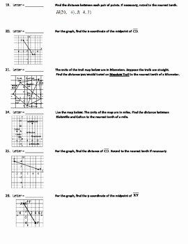 Distance formula Worksheet with Answers Fresh Word Scramble Review Worksheet Midpoint & Distance
