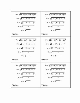 Distance formula Worksheet with Answers Inspirational 97 Best Images About Math Worksheets 2 On Pinterest
