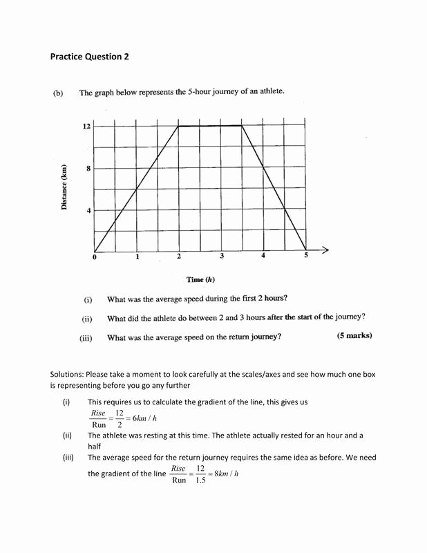 Distance Time Graph Worksheet Awesome Distance Time and Velocity Time Graphs Csec Math Tutor