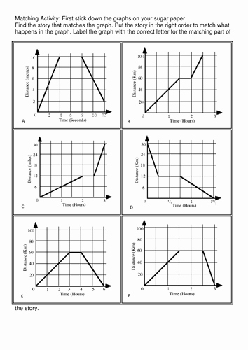 Distance Time Graph Worksheet Elegant Time Distance Speed Graphs Ks3 by Sbinning Teaching
