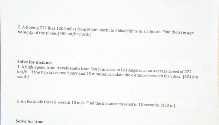 Distance Vs Displacement Worksheet Elegant Simple Speed Velocity and Acceleration Worksheet