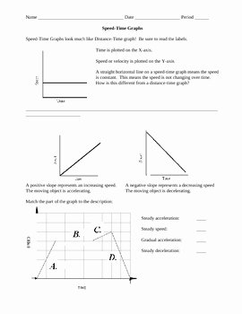 Distance Vs Time Graph Worksheet Awesome Motion Review Worksheet Speed Time Graphs by Ian