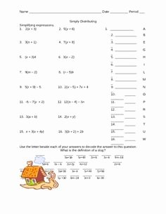 Distributive Property Equations Worksheet New Gcf and Distributive Property Powerpoint