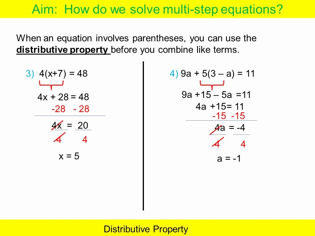 Distributive Property Equations Worksheet Unique Worksheets Distributive Property and Bining Like Terms